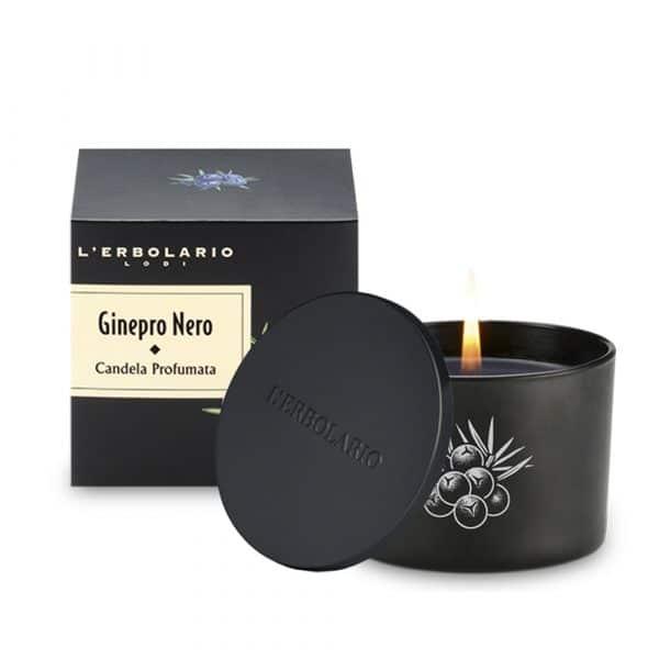 L'Erbolario Черный Можжевельник ароматизированная свеча лимитрированная серия 28ч