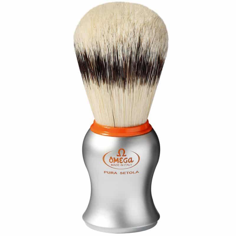 Omega 11573 Помазок для бритья, щетина кабана, 10,6 см