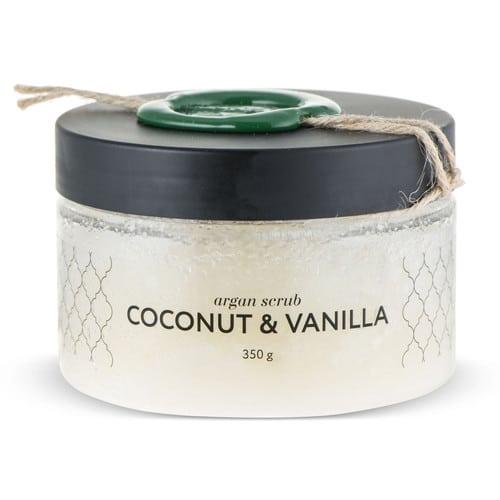 Huilargan Аргановый скраб солевой кокос ваниль 350 г