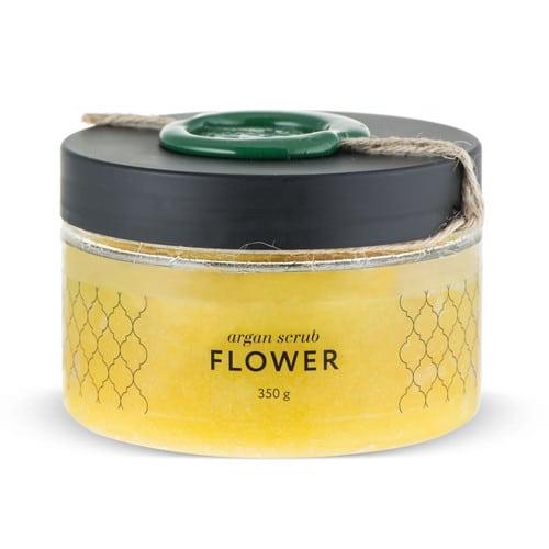 Huilargan Аргановый скраб солевой цветочный 350 г