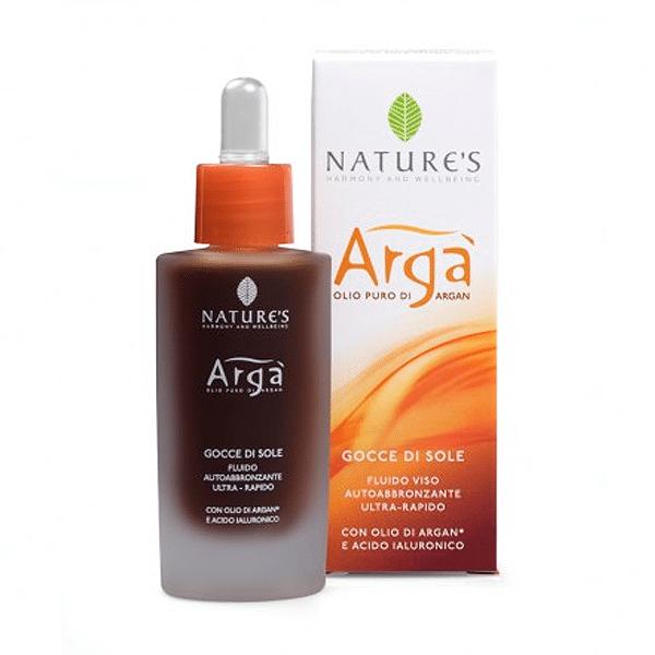 """Nature's """"Arga"""" лосьон автозагар с маслом аргании и гиалуроновой кислотой 30 мл"""