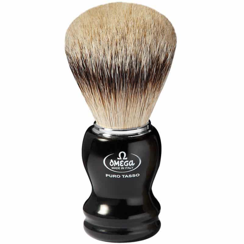 Omega 618 Помазок для бритья, ворс серебристого барсука Super badger, 10,9 см