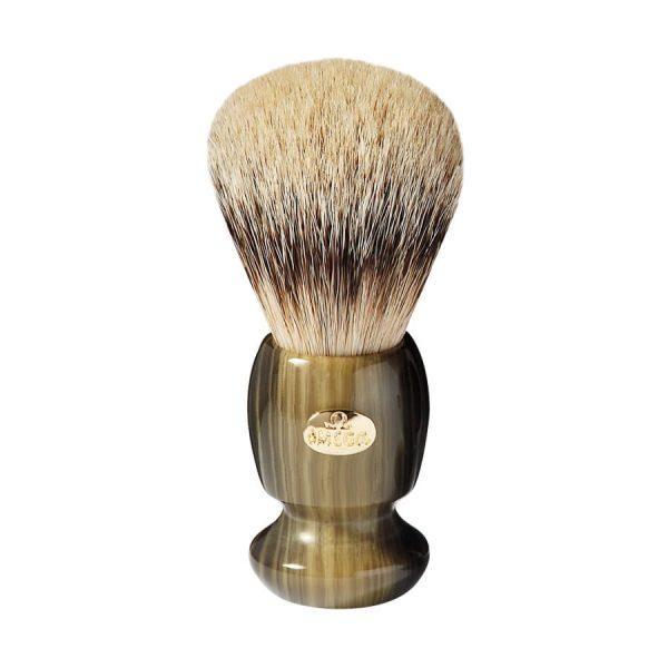 Omega 6214 Помазок для бритья, ворс серебристого барсука Super badger, 10,5 см