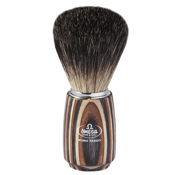 Omega 6752 Помазок для бритья, барсучий ворс Pure badger, 11,1см