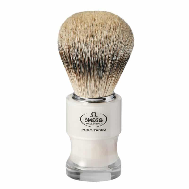 Omega 6780 Помазок для бритья, ворс серебристого барсука Super badger, 10,3 см