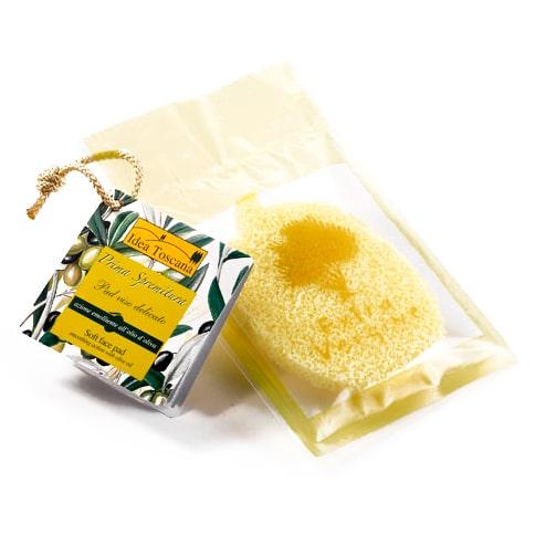 Idea Toscana Губка смягчающая для лица с оливковым маслом