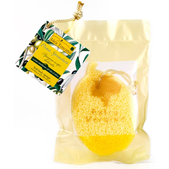 Idea Toscana Губка смягчающая для тела с оливковым маслом