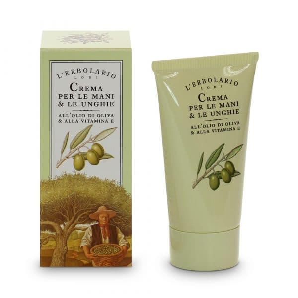 L'Erblario Крем для рук и ногтей с оливковым маслом и витамином Е 75 мл