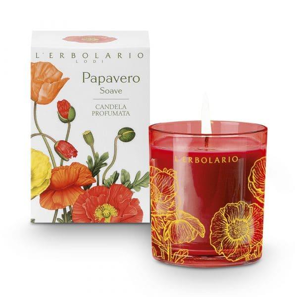 L'Erbolario Нежный мак ароматизированная свеча 37ч