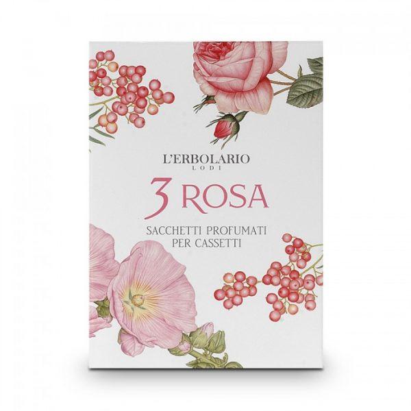 L'Erbolario Розовое трио ароматизированное саше для комода