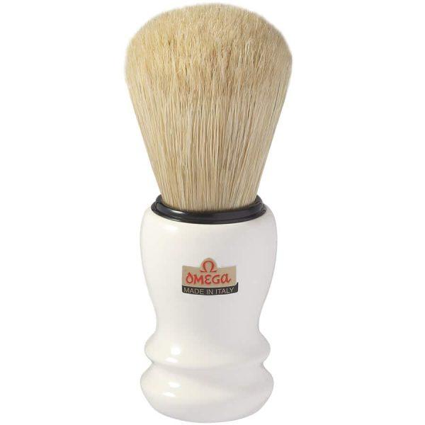 Omega 10108 Professionale Помазок для бритья, щетина кабана 12,5 см, пластик