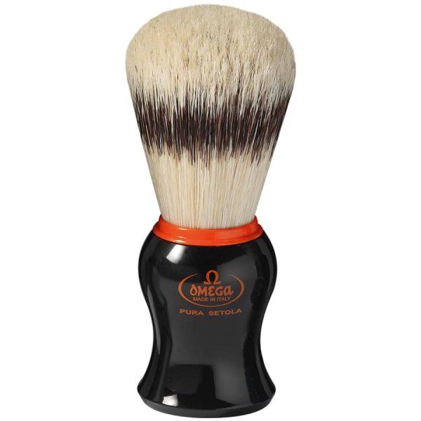 Omega 11574 Помазок для бритья, щетина кабана, 10,6 см