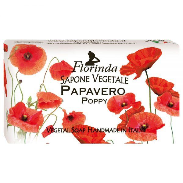 FLORINDA Весенние цветы Мак растительное мыло ручной работы 100 г