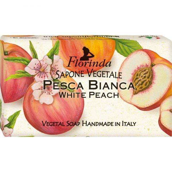 FLORINDA Фруктовая Страсть Белый Персик растительное мыло ручной работы 100 г