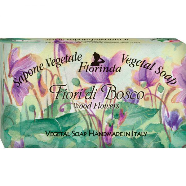 FLORINDA Цветочные Ноты Лесные Цветы растительное мыло ручной работы 100 г