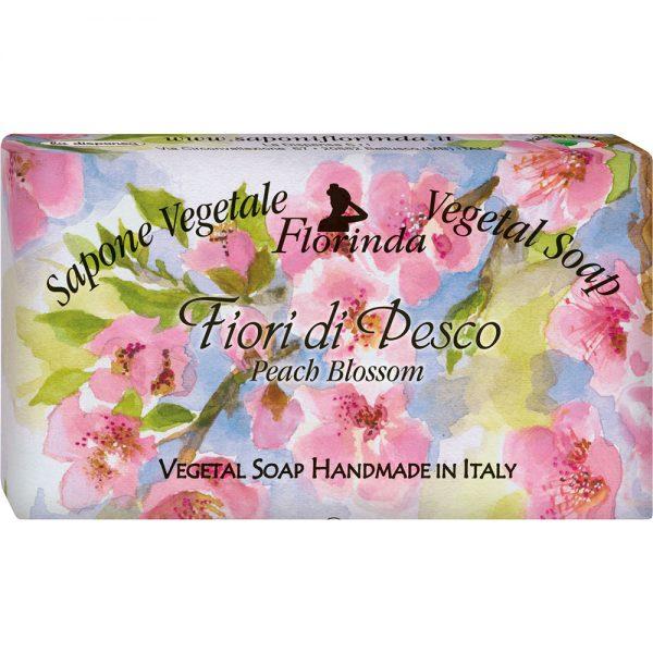 FLORINDA Цветочные Ноты Персиковый Цветы растительное мыло ручной работы 100 г