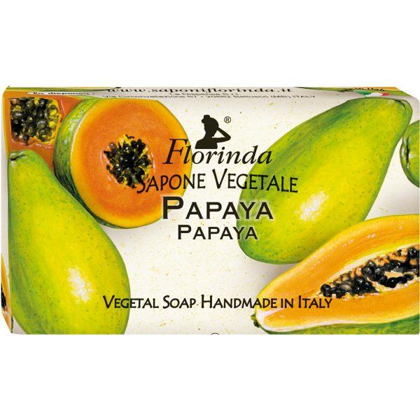FLORINDA Аромат Тропиков Папайя растительное мыло ручной работы 100 г
