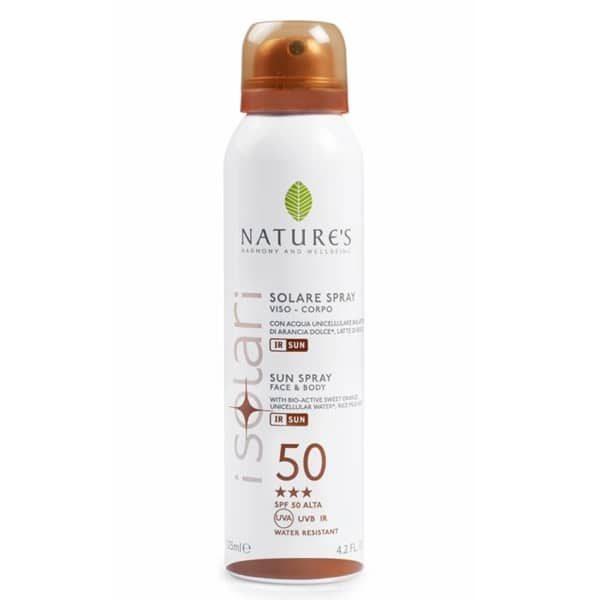 Nature's Спрей от солнца SPF-50 для лица и тела 125 мл