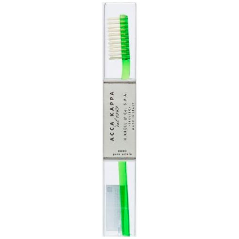 Acca Kappa Зубная щетка (пластик) с натуральной щетиной, жесткая
