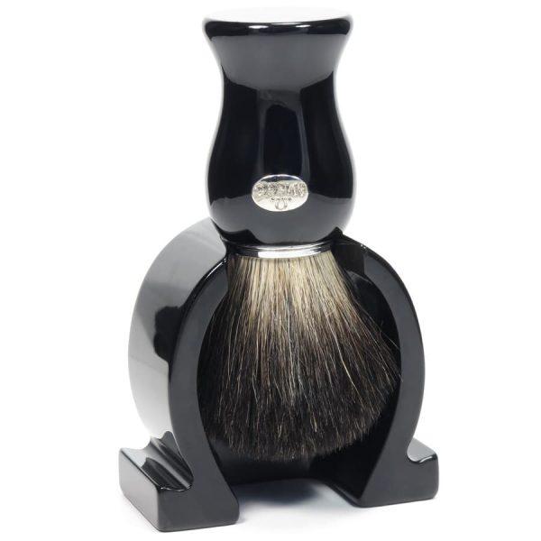 Omega 6614.16 Помазок для бритья с держателем, барсучий ворс Pure badger, 11см