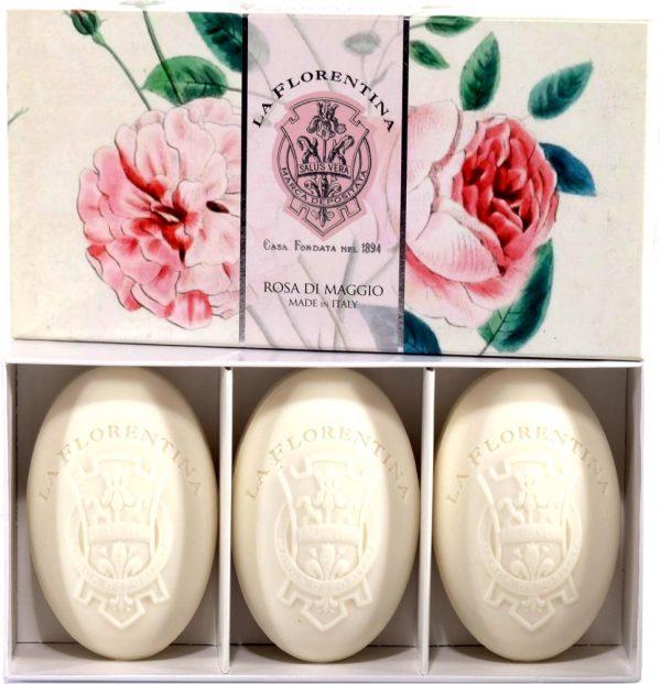 La Florentina Майская роза набор мыла 3*150 г