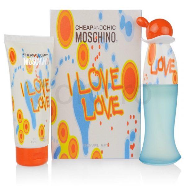 Moschino Cheap and Chic I Love Love подарочный набор: туалетная вода 30 мл, лосьон для тела 50 мл