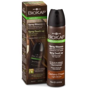 Biokap Средство оттеночное для закрашивания отросших корней волос с Аргановым маслом и Восстановительным комплексом Tricorepair (тон светло-коричневый)