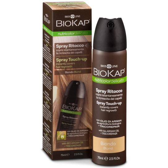 Biokap Средство оттеночное для закрашивания отросших корней волос с Аргановым маслом и Восстановительным комплексом Tricorepair (тон блонд)