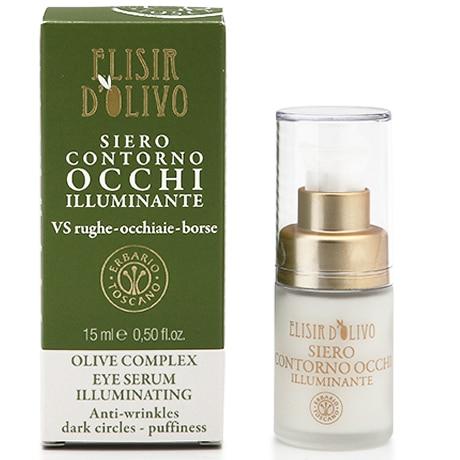 Erbario Toscano Оливковый эликсир сыворотка для глаз придающая сияние