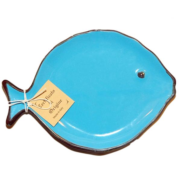 Giovannoni Porcellane Forte dei Marmi Тарелка керамическая в форме рыбы для закусок