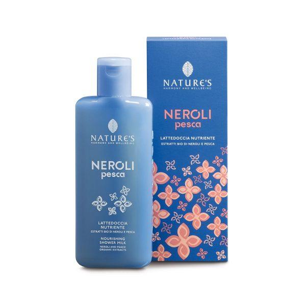 Nature's Нероли и персик гель для душа (молоко) питательный с экстрактами органических нероли и персика 200 мл