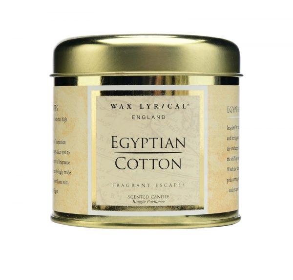 Wax Lyrical Египетский хлопок свеча в металле 35 ч