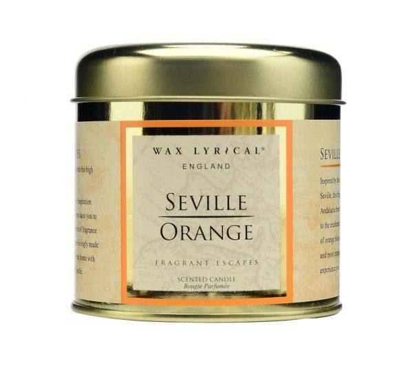 Wax Lyrical Андалузский апельсин свеча в металле 35 ч